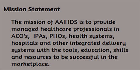 AAIHDS Mission Statement